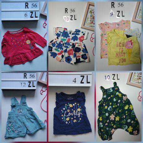 Wiosenno/letnia paczka dla dziewczynki 0-3 miesiące (56-62)