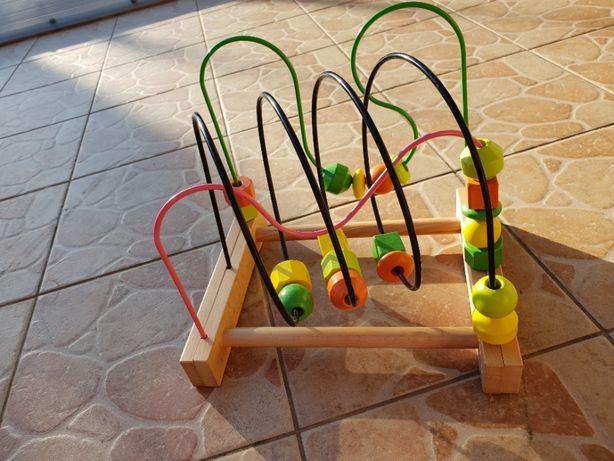 Mula, Zabawka edukacyjna, przeplatanka, drewno