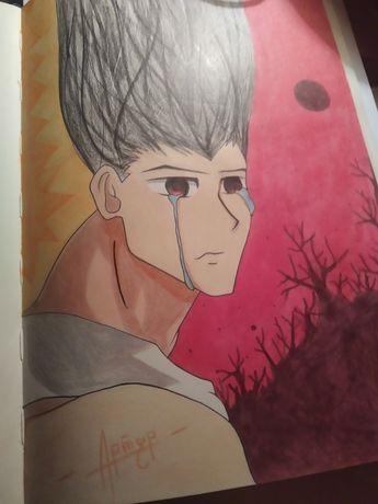 Рисую аниме и то что указано на фото+Дудл арты