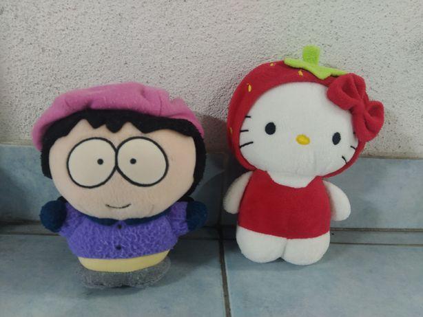 Conjunto Peluches Hello Kitty e Wendy Testaburger da série South Park