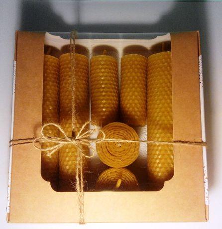Набор 7 свечей из натуральной вощины (пчелиного воска) ручной работы
