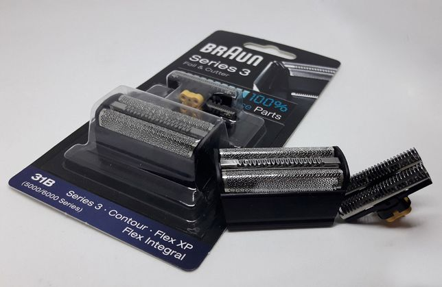 Оригинал блистер ножевой блок сетка BRAUN 31B,31S для бритвы брауннн 3