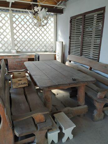 Садовые лавки и стол