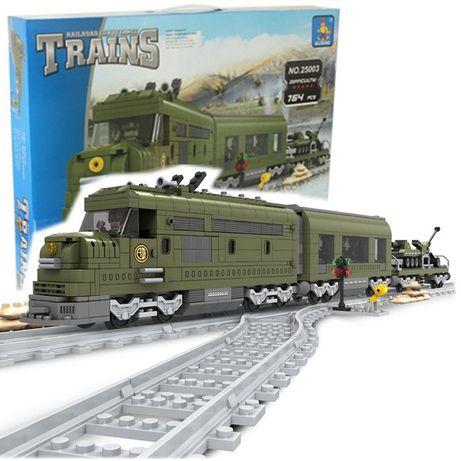 Klocki pociąg wojskowy AUSINI 25003 NOWY 764 klocków Cobi Lego