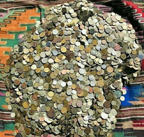 14 кг монет СССР, Царские, иностранные.