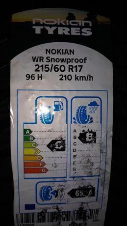 Opony zimowe Nokian WR Snowproof 215/60 r17 96H