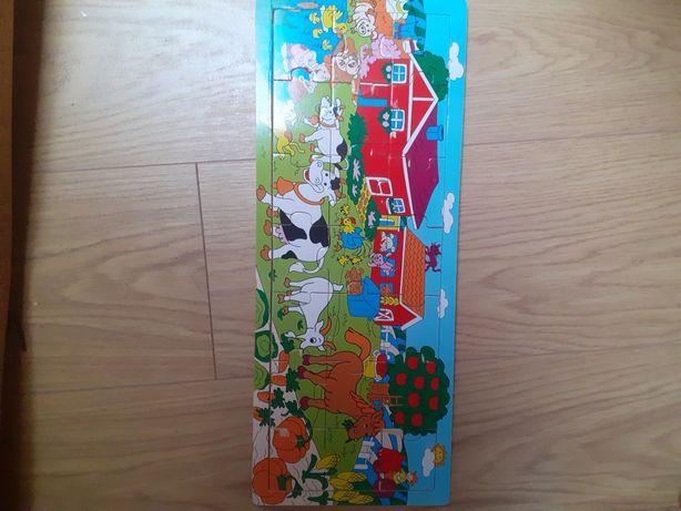 Puzzle drewniane szerokie