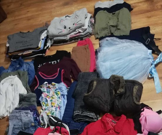 Zestaw ubrań dla dziewczynki 146-158 mega polecam jesień wiosna