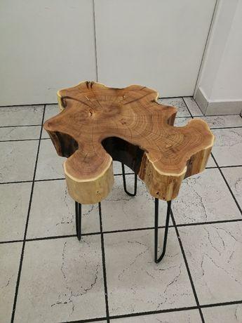 Stolik Kawowy Akacja ciekawy naturalny kształt