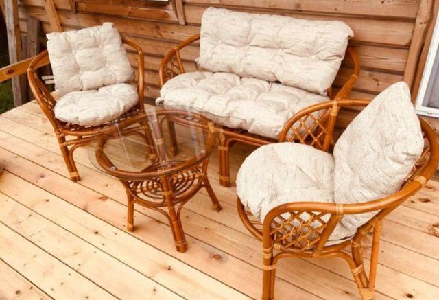 Продам садовую мебель с ротанга стол диван и кресла