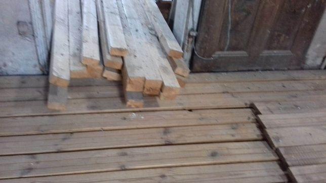 Deska podłogowa sosnowa wysuszona i wyleżakowana - 10 letnia