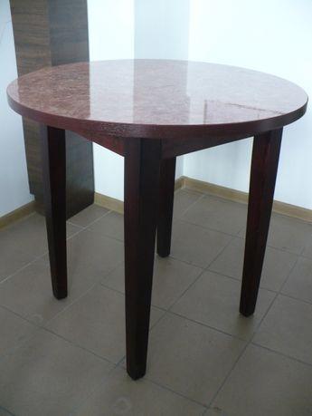 stół okrągły - drewniany