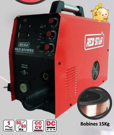 Máquina de Soldar Multi-processo Maxi MIG 200 MMA REDSTAR