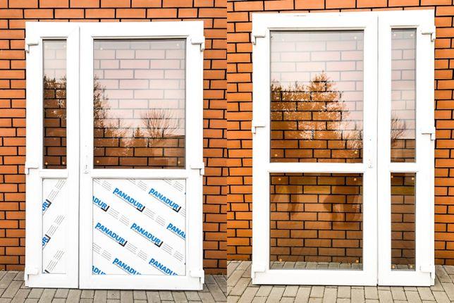 Drzwi zewnętrzne PCV 125x210 białe * NOWE! OD REKI sklepowe biurowe *