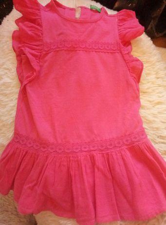 Стильное платье на  маленькую модницу фирмы Benetton. Цена снижена.