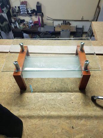 Ława szklana stół dwupoziomowa