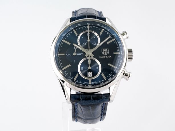 Мужские бу часы TAG Heuer Carrera Calibre 1887 Chronograph 41 мм