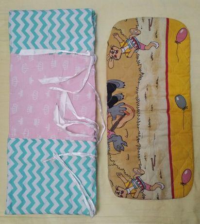 Детский матрас в коляску и защита в кроватку