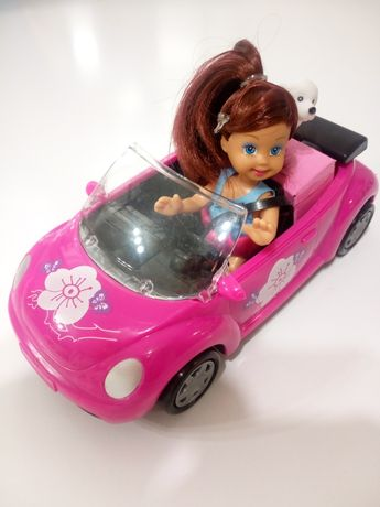 DUŻE Auto Kabriolet Dla Lalki Samochód + Lalka