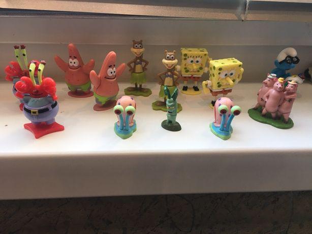 Продам игрушки киндер Губка Боб, Машинки Хот вилс, Холодное Сердце