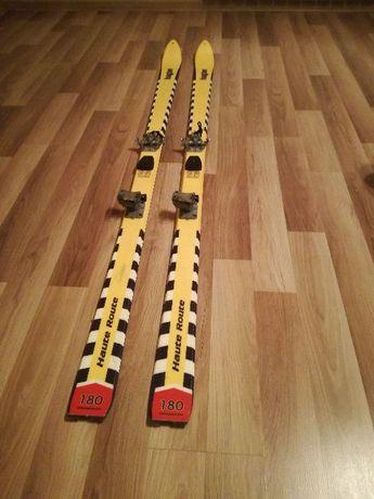 Lekkie Narty Skiturowe Skitour HAGAN 180cm, Wiązania Dynafit, Foki