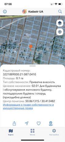 Земельный участок с.Ясногородка Вышгород