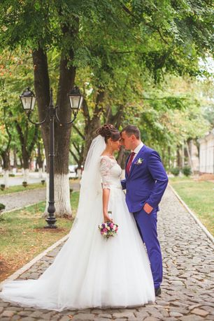 Свадебное платье цвета айвори 42-46р