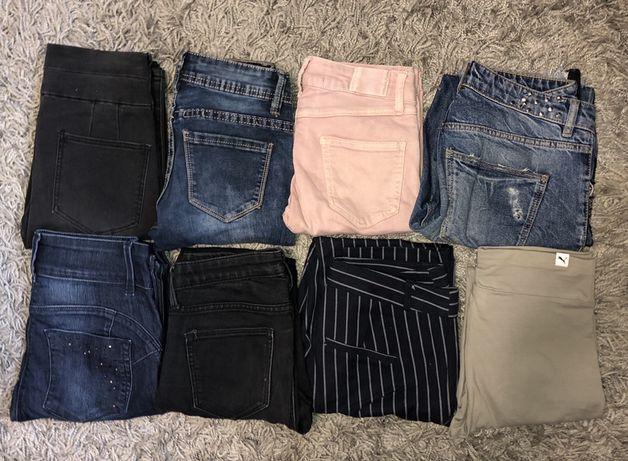 spodnie jeansy zestaw legginsy nowe stan idealny tanio