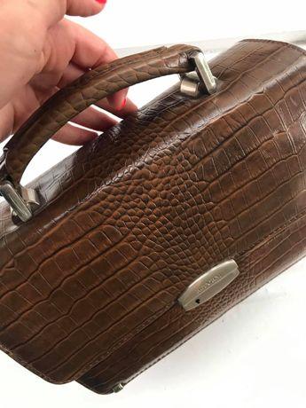 Барсетка сумочка чоловіча стильна шкіряна