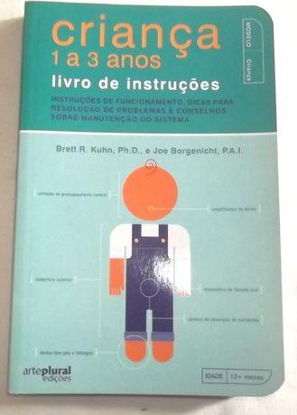 criança 1 a 3 anos livro de instruções