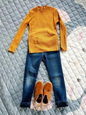 Musztardowy zestaw Zara