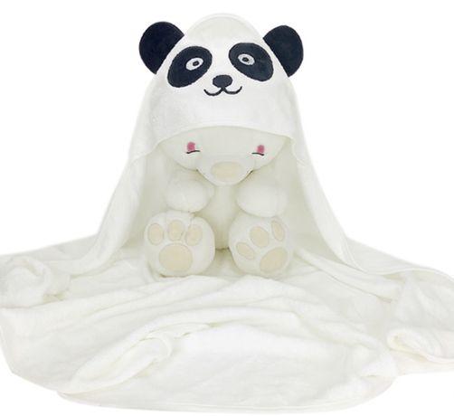 БАМБУКОВОЕ  детское полотенце уголок с капюшоном Панда