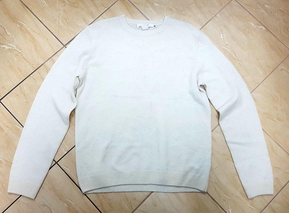 Sweter męski H&M ecru wełna L Ząbkowice Śląskie - image 1