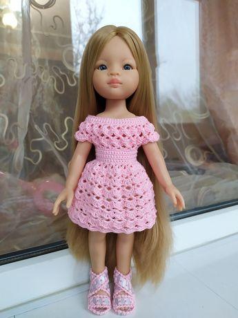 Нежное розовое платьице одежда для куклы Паола Рейна