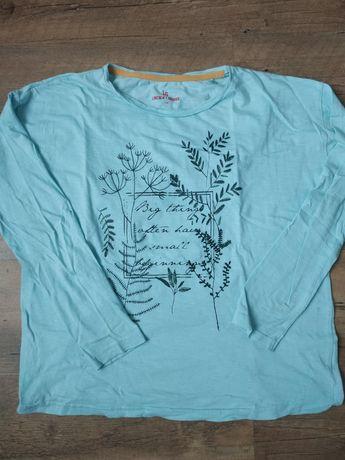 Cienka niebieska bluzka