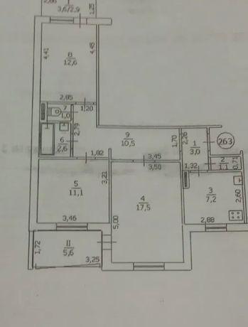 3 комнатная Ленинского Комсомола