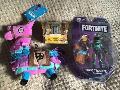 Fortnite figurka Toxic Trooper Solo Mode, skrzynia i maskotka Llama