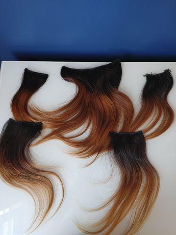 Słowiańskie włosy na taśmach ze spinkami