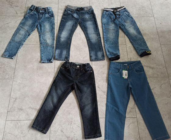 Paka jeansy spodnie 110
