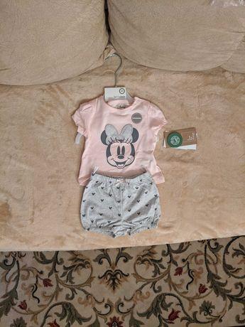 Костюмчик костюм для девочки футболка и шорты комплект