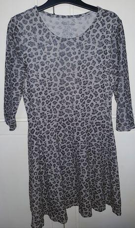 FIRMOWA sukienka z brokatem F&F 134