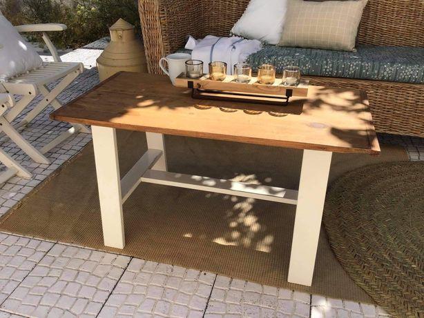 mesa, apoio, centro, rustica