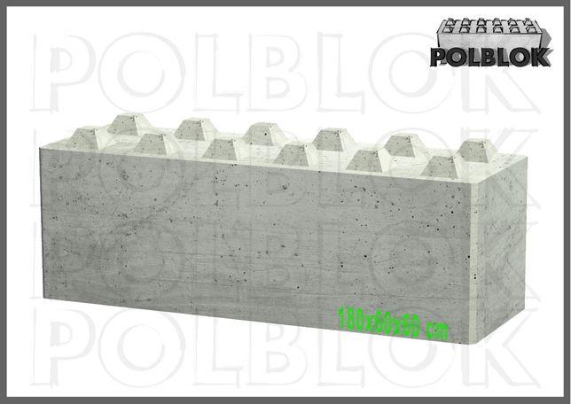Bloki betonowe , Atest ściany ognioodporne mury oporowe, ściany PPOŻ