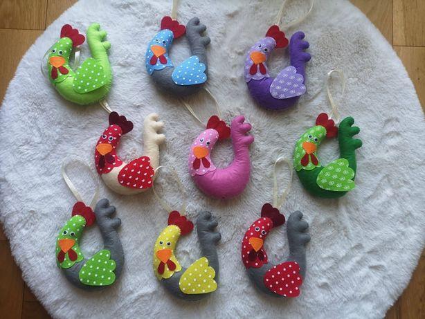 Wielkanoc dekoracje zabawki ozdoby pluszowe kurki króliki rękodzieło
