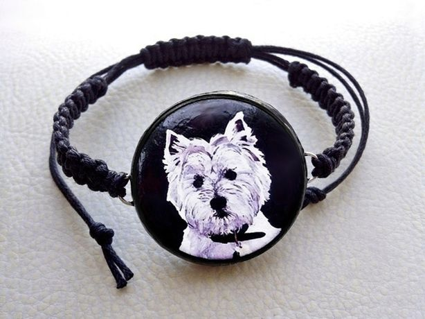 Bransoletka Pies West White Highland Terrier Terier HandMade