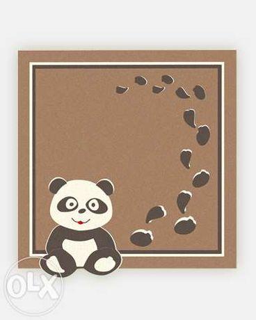 Ковер детский шерстяной натуральный Панда