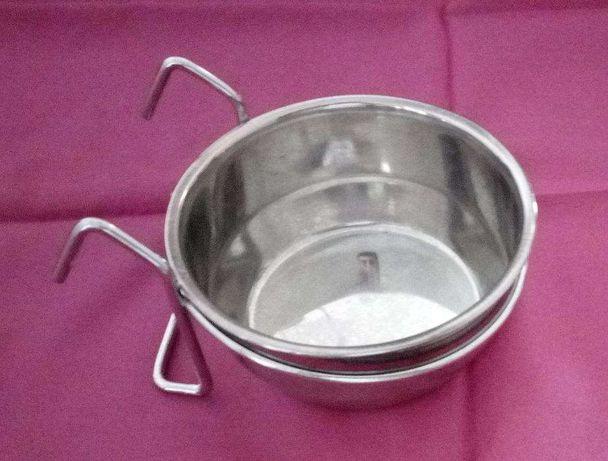 Comedouro Inox c/suporte 10cm/0.45cm