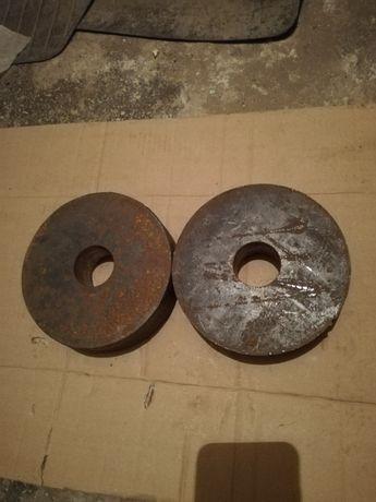 Komplet obciążeń kulturystycznych żeliwnych o wadze 2x5 kg