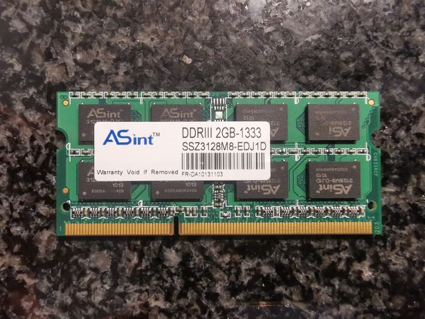 Pamięć RAM SODIMM DDR3 2gb