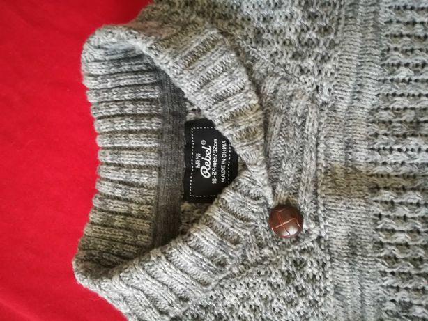Swetr szary elegancki 92